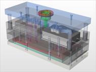 قالب تزریق پلاستیک طراحی شده در سالیدورک